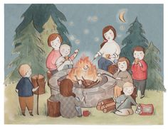 Adorable   A Kelsey Garrity-Riley Illustration: Around the campfire.