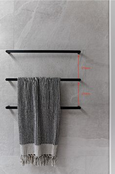 Creating a Designer Look in your Bathroom with Towel Rails — Zephyr + Stone - towel rail Bathroom Renos, Budget Bathroom, Bathroom Inspo, Bathroom Inspiration, Small Bathroom, Stone Bathroom, Concrete Bathroom, White Bathrooms, Luxury Bathrooms