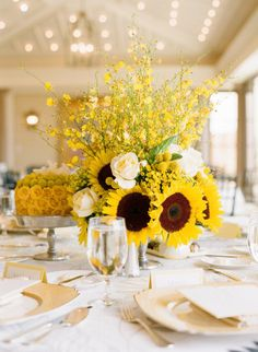 Beautiful Sunflower Design By: Mark,s Garden,Photography Y/Elizabeth Messina Photography/ Event Planning By/ Mindy Weiss Partty Consultants.