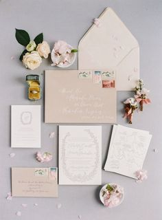 Blush wedding invitation suite: Photography: Angela Newton Roy - http://angelanewtonroy.com/