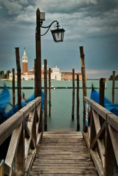 ...waiting for gondola ride, Venice