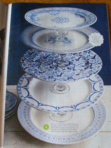 Flea Market Inspiration - Cake/cookie stand made from old plates & glasses