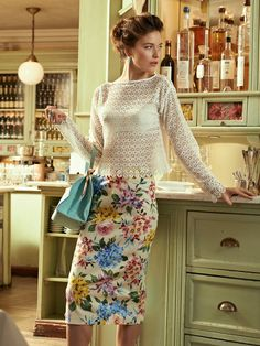 Floral Pencil Skirt 03/2013