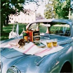 Vintage Picnic. drive in movie