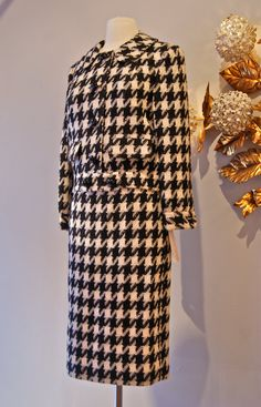 60s Jacket and Skirt // Vintage 1960s Wool Black by xtabayvintage, $198.00