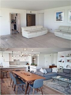 you believe these before and after pictures! We almost forgot what this Coronado Shores Condo looked like.Can you believe these before and after pictures! We almost forgot what this Coronado Shores Condo looked like. Condo Kitchen Before & After Home Design, Decor Interior Design, Interior Design Living Room, Condo Design, Kitchen Interior, Design Ideas, Design Styles, Kitchen Design, Interior Decorating