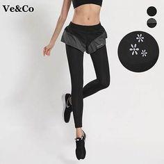 Black Lotus Leaf Pants Women 2016 Sexy Running Pants Leggings Women's Sports Tights Quick-Drying Breathable Slim Leggings
