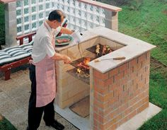 4 ways to build a bbq pit wikihow diy brick barbeque all about built in barbecue pits this bricks should you use for a bbq Grill Diy, Brick Grill, Outdoor Oven, Grill Area, Backyard Patio, Picnic Recipes, Picnic Ideas, Picnic Foods, House