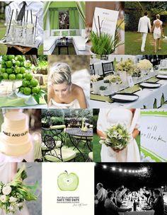 mariage vert anis