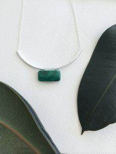 MIES necklace  Malachite por morningritualjewelry en Etsy