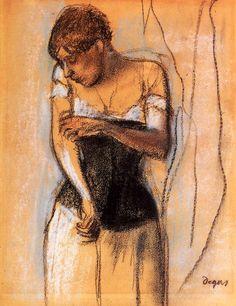 Edgar Degas - Woman Touching Her Arm  - circa 1883