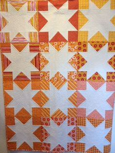 White Stars From Skip the Borders by Julie Herman of Jaybird Quilts Sample made by Quilter's Heaven Northbrook, IL.