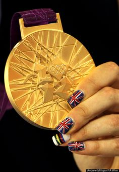 Great Britain's Dani King celebrates with their gold medals after winning the Women's Team Pursuit Final at the Velodrome in the Olympic Park, London, on the eighth day of the London 2012 Olympics. Dani King, Olympic Countries, Inspiration For The Day, Olympic Athletes, Holiday Deals, The Eighth Day, Creative Nails, Olympics