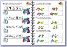 cahier alphas : différents types d'exercices intéressants Grade 1 Reading, Grande Section, Autism Classroom, Kids Learning Activities, Phonemic Awareness, Letter Sounds, Teaching French, Kids Education, Literacy