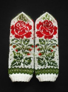 "Ravelry: MASHAISL's Mittens ""Grandma's embroidery"" Double Knitting Patterns, Knitted Mittens Pattern, Knit Mittens, Knitted Gloves, Knitting Socks, Knitting Designs, Knitting Stitches, Knitting Projects, Hand Knitting"
