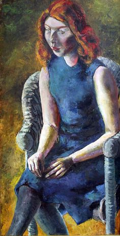 "Elizabeth Gauffreau   Esther on eBay   ""Young Woman in a Wicker Chair"" by Hanns Ludwig Katz   2018  Here we find Rodney trolling the antique shops of northern New England. Up and down the Granite State he goes in his shiny black pickup truck with Paula Modersohn Becker, Max Beckmann, Franz Marc, Paul Cezanne, William Turner, Wassily Kandinsky, Gustav Klimt, Claude Monet, Rembrandt"