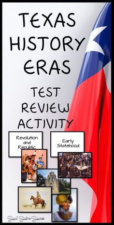 Don't wait for the final – start preparing your students now with the Eras of… 7th Grade Social Studies, Social Studies Activities, Teaching Social Studies, History Lesson Plans, Study History, History Classroom, History Teachers, Texas History 7th, 4th Grade Activities