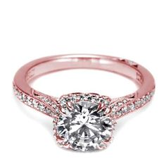 Tacori Rose Gold Pave Diamond Engagement Ring SPECIAL ORDER NON-RETURNABLE (mounting only)
