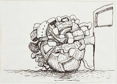 Philip Guston Untitled, 1980. Ink on paper.