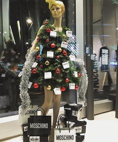 "MOSCHINO,Milan,Italy, ""I love dressing up for Christmas.....I think"", pinned by Ton van der Veer"