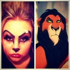 Scar makeup lion king happy Halloween!