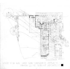 frank lloyd wright drawings | Design of Details: Frank Lloyd Wright's Affleck House | Sara Horn ...