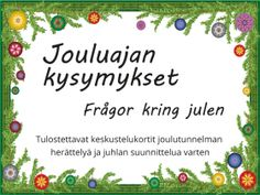 Joulu suunnittelu kysymyksiä joulun tunnelma kysymyssarja Archives - RyhmäRenki Christmas Crafts, Xmas, Christmas Calendar, Cross Stitch Patterns, Winter, Diy And Crafts, Seasons, December, Party