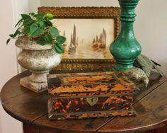 british west indies decorating | ... de résistance... an antique British West Indies tortoiseshell box