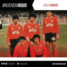 #BuenDiaRojo! #BuenJueves! 😈 Año 1988. Los juveniles de #Independiente: Morales, Osterrieth, Villarreal, Ubaldi y Leeb.