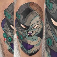 The biggest gallery of Dragon Ball Z tattoos and sleeves, with a great character selection from Goku to Shenron and even the Dragon Balls themselves. Dbz, Vegeta And Bulma, Goku, Z Tattoo, Body Art Tattoos, Sleeve Tattoos, Nerdy Tattoos, Anime Tattoos, Dragon Ball Z