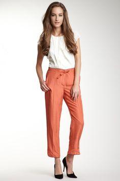 silk pants Silk Pants, Fashion Statements, Rachel Roy, Silk Ties, Pure Silk, Parachute Pants, Autumn Fashion, Blouses, Pure Products