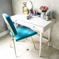 This space hasn't looked this clean and neat since I set it up last year-good thing I took a photo  product details via  @liketoknow.it www.liketk.it/2a09W #liketkit #LTKhome #vanity #decor #bathroom #interiordesign #interior #daughters