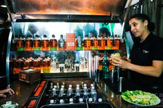 Bulleit Bourbon's Betabrand Visit with Tailgate Trailer Woody! -