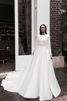 Muslimah Wedding Dress, Wedding Dress Chiffon, Wedding Dress Trends, Bohemian Wedding Dresses, Long Sleeve Wedding, Wedding Dress Sleeves, Modest Wedding Dresses, Bridal Dresses, Wedding Gowns