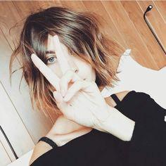 She cut her hair short too! 9/18/15