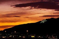 El Paso's Star on the Mountain by Ray Chiarello