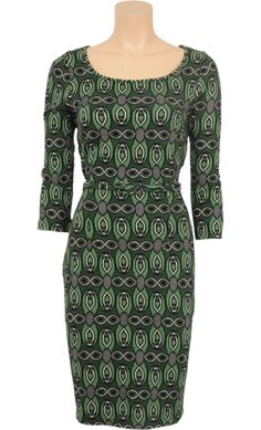 Vintage Inspired Autumn   ◎   Tulip Dress Baccara - Jungle Green   ◎   King Louie AW14