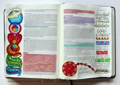 visual blessings: Love that Throws Fear Out ... Bible Art Journaling...