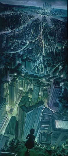 Ghost in the Shell, 1995.  //An Ode To the Unsung Art of Anime Backgrounds|| I love this