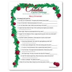 Best representation descriptions: Related searches: Printable Christmas Games,Christmas Party Games,Christmas Games for Groups,Christmas Ga. Printable Christmas Games, Fun Christmas Games, Christmas Trivia, Holiday Games, Christmas Activities, Christmas Riddles, Xmas Games, Christmas Parties, Holiday Ideas