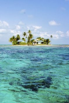 Small island off Belize City.