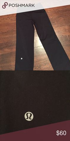 Lululemon Yoga Pants - Groove Great pair of pants! Lightly worn, no pilling! The only thing is the tag on the inside fell out, but they're 100% authentic!! I've grown so they're too short on me. Very comfortable! PLEASE MAKE AN OFFER IF INTERESTED :) lululemon athletica Pants Leggings