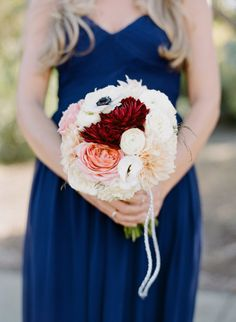 A pop of bold red and blush: http://www.stylemepretty.com/2015/06/12/outdoor-bay-area-wedding-inspired-by-farmers-markets/ | Photography: Josh Gruetzmacher - http://www.joshgruetzmacher.com/