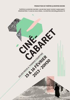 Ciné-Cabaret by Damien Raymond, via Behance