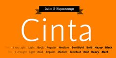 Check out the Cinta font at Fontspring. Displaying the beauty and characteristics of the Cinta font family.