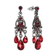 1928 Jet-Tone Simulated Crystal Beaded Chandelier Earrings