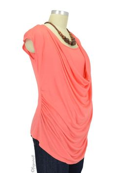 nursing top, salmon color good for summer.