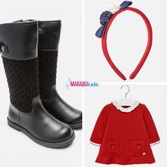Alege pentru copilul tău o ținută plină de culoare, accesorizată cu o bentiță simpatică. Cizmele înalte sunt un must 🍂🍁 pentru a putea întâmpina toamna cu brațele deschise!  Coduri produse: 10464TI18ROSU, 46741TI17NGR, 2940TI18ROSU2  #marabukids #mayoral #tinutazilei Boutique, Rubber Rain Boots, Shoes, Fashion, Moda, Zapatos, Shoes Outlet, Fashion Styles, Shoe
