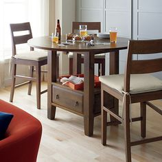 Basque Honey High Dining Table  | Crate and Barrel