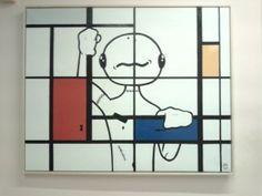 """#Sfiggy in """"The Mondrian Prison 2"""" di Alessio Bolognesi.  L'opera donata da Alessio a Gruppo Finmatica"""